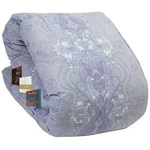 昭和西川 累計販売実績12,000枚以上 掛けふとん ブルー シングル 暖ふわ 信頼の羽毛布団ダウン85% 1.1kg 350DP Amaz|kavutens
