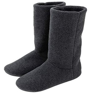 KOCOTA ロングタイプ ルームブーツ あったか ルームシューズ 冬用 室内履き 足冷え対策 メンズ レディース 黒灰色 25~26.5c|kavutens
