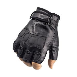 手袋 トレーニンググローブ ウエイト フィットネス フィンガーレスグローブ 指なし手袋 フェイクレザー マジックテープ 滑り止め付き メンズ スポーツ|kawa-e-mon