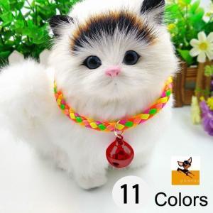 猫用首輪 キャットカラー 猫用カラー 首輪 カラー 鈴付き シンプル ペット用品 猫 ねこ ネコ ブラック ブルー シルバー ゴールド レッド ミック|kawa-e-mon