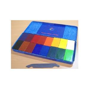 シュトックマー 蜜ろうクレヨン 16色セット (ブロックタイプ)|kawachigazai