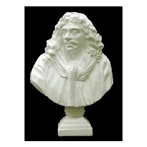 石膏像 ホルベイン ミニ石膏像 モリエール胸像 高さ19.5cm デッサン kawachigazai