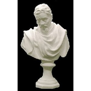 石膏像 ホルベイン ミニ石膏像 ミケランジェロ胸像 高さ21.2cm デッサン kawachigazai