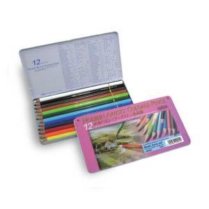 ホルベイン アーチスト油性色鉛筆 12色(基本色)メタルケース|kawachigazai