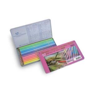 ホルベイン アーチスト油性色鉛筆 12色(パステルトーン)メタルケース|kawachigazai