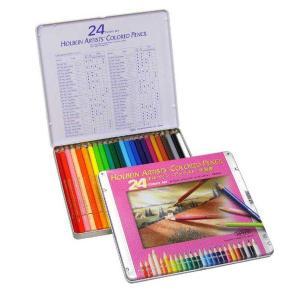 ホルベイン アーチスト油性色鉛筆 24色(基本色)メタルケース|kawachigazai