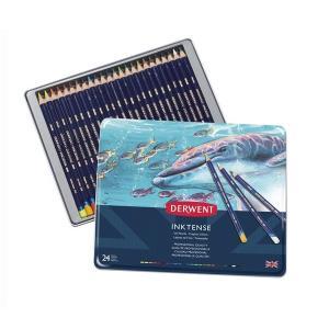 ダーウェント インクテンスペンシル 水性色鉛筆 24色 kawachigazai