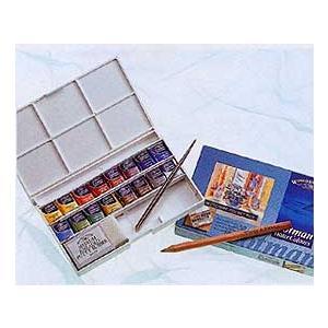 W&N (ウィンザー&ニュートン) コットマン ハーフパン16色デラックススケッチャーズ ポケットボックス|kawachigazai