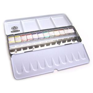 シュミンケホラダム 固形水彩絵具 ハーフパン12色セット|kawachigazai
