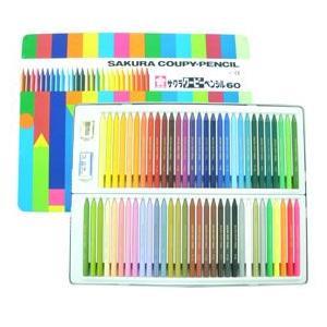 サクラ クーピーペンシル60色 全芯色鉛筆|kawachigazai