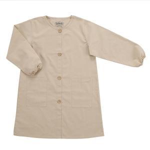 ホルベイン 画家のスモック GSM-03 サンドベージュ ワークショップ 絵画教室 アトリエ 作業服|kawachigazai