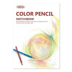 スケッチブック ホルベイン 色鉛筆用 H画用紙 A4 20枚天糊とじ|kawachigazai
