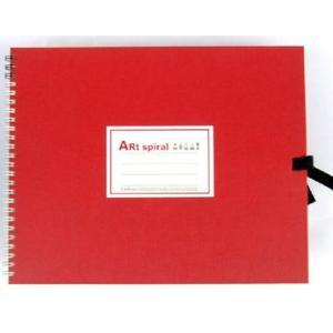 スケッチブック アートスパイラル レッド F3|kawachigazai