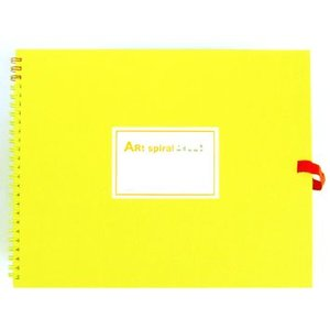 スケッチブック アートスパイラル イエロー F3|kawachigazai