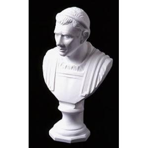 石膏像 ホルベイン ミニ石膏像 シーザー胸像 高さ20.5cm デッサン kawachigazai