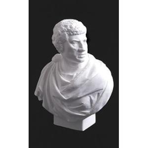 石膏像 ホルベイン ミニ石膏像 ブルータス胸像 高さ17.5cm デッサン|kawachigazai