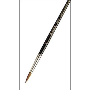 ラファエル 水彩画筆 8404 4/0号 赤テン 丸筆 含みが良い|kawachigazai