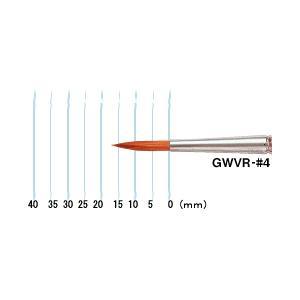 水彩筆 ビジュアル筆 GWVR♯4 丸筆|kawachigazai