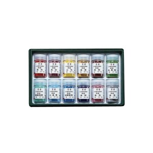 ナカガワ胡粉 岩絵具(いわえのぐ) 鳳凰-ほうおう- 12色セット緑函(C)No803|kawachigazai
