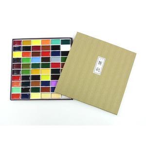 吉祥 顔彩(がんさい) 60色セット(布張)|kawachigazai
