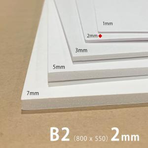 建築模型材料 スチレンボード(1枚) 2mm厚 約800×550mm|kawachigazai