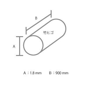 建築模型材料 竹ヒゴ 直径1.8mm 10本組|kawachigazai