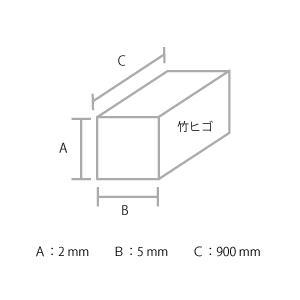 建築模型材料 竹ヒゴ 2x5mm 5本組|kawachigazai