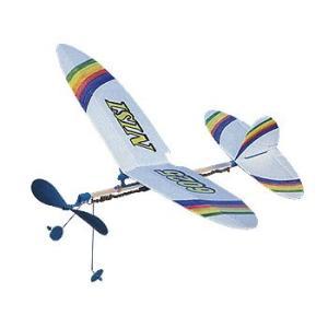 ゴム動力飛行機(丸翼)TA-06 低・中学年向 314-153 完成サイズ:W395×D325mm|kawachigazai