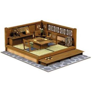 和風ミニチュア模型 創作楽座(そうさくらくざ) 和の設え 二畳タイプ 「黄昏」|kawachigazai