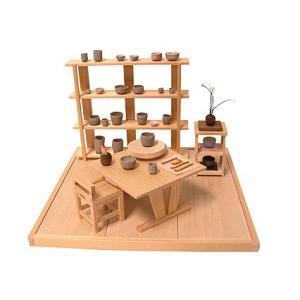和風ミニチュア模型 創作楽座(そうさくらくざ) ミニシリーズ 陶芸楽房mini|kawachigazai