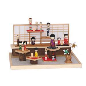 和風ミニチュア模型 創作楽座(そうさくらくざ) ミニシリーズ こけし粧苑mini|kawachigazai