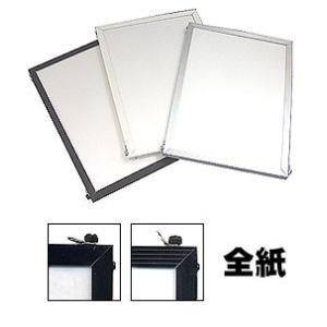 APJ アルミフレームベストパネル ブラック 全紙 (写真サイズ) (430mmx540mm)|kawachigazai