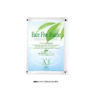APJ フェイスファイブフレーム アクリル B4 (257mmx364mm) クリア / 写真立て / フォトフレーム kawachigazai