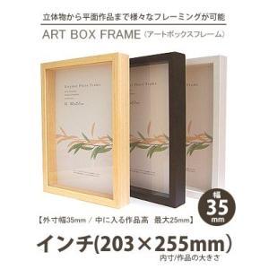 APJ アートボックスフレーム 幅35mm インチ (203×255mm) 深さ25mm / 立体物|kawachigazai