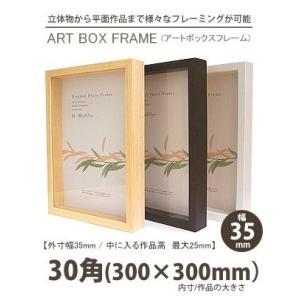 APJ アートボックスフレーム 幅35mm 30角 (300×300mm) 深さ25mm / 立体物|kawachigazai