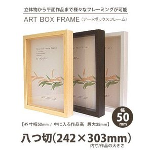 APJ アートボックスフレーム 幅50mm 八つ切 (242×303mm) 深さ39mm / 立体物|kawachigazai
