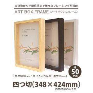 APJ アートボックスフレーム 幅50mm 四つ切 (348×424mm) 深さ39mm / 立体物|kawachigazai