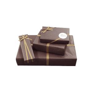 画材のギフト包装 基本のラッピング(無料)こげ茶|kawachigazai