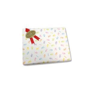 画材のギフト包装 基本のラッピング(無料) KIDS向けパステルベア包装紙とリボンシール・赤|kawachigazai