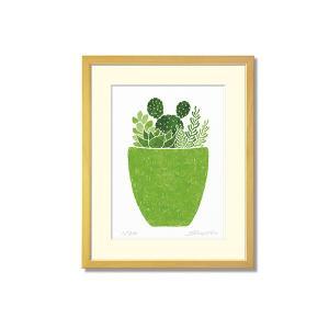 SoujirouArt (藤谷壮仁郎額装品) CPシリーズ (500部限定作品) 多肉植物寄せ植え CP-013|kawachigazai