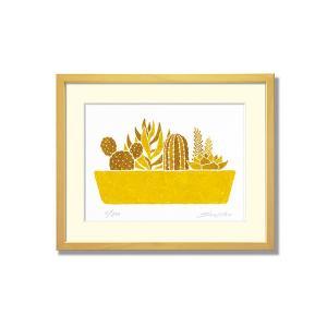 SoujirouArt (藤谷壮仁郎額装品) CPシリーズ (500部限定作品) 多肉植物寄せ植え CP-018|kawachigazai