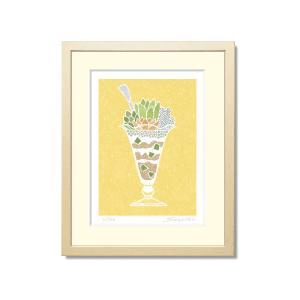 SoujirouArt(藤谷壮仁郎額装品)PPシリーズ(500部限定作品) パフェ風の多肉植物寄せ植え PP-013|kawachigazai