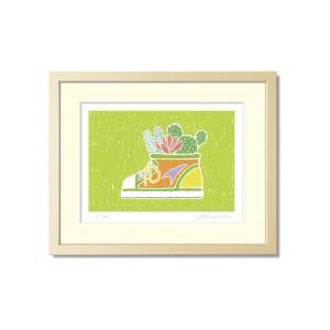 SoujirouArt(藤谷壮仁郎額装品)PPシリーズ(500部限定作品) キッズシューズの多肉植物寄せ植え PP-016|kawachigazai