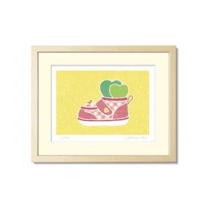 SoujirouArt(藤谷壮仁郎額装品)PPシリーズ(500部限定作品) ベビーシューズのハートプランツ PP-017|kawachigazai