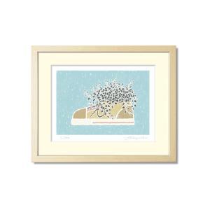SoujirouArt(藤谷壮仁郎額装品)PPシリーズ(500部限定作品) シューズのワイヤープランツ PP-018|kawachigazai