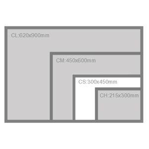 カッターマット ウチダ カッティングマット CS 450×300×t3mm(5cm方眼)