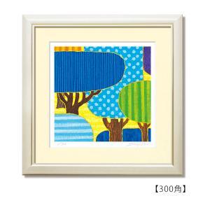 SoujirouArt(藤谷壮仁郎額装品)Aシリーズ(300部限定作品)blue forest A-003 300角(額色)アイボリー|kawachigazai