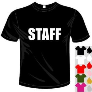 おもしろアルファベットドライTシャツ(カラー5色) STAFFTシャツ ユニークなメッセージてぃしゃつ 送料無料 河内國製作所