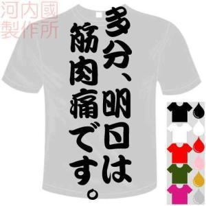 ○メッセージ   多分、明日は筋肉痛です。    以下デザインお選びください   ○Tシャツカラー ...