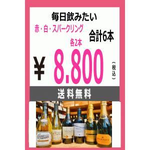 送料無料 家飲みワイン 赤 白 スパークリング 各2本 合計6種類セット 税込1セット価格 kawadesake